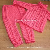 Работы для детей, handmade. Livemaster - original item suit Gorgeous auth. work sweater pants. Handmade.