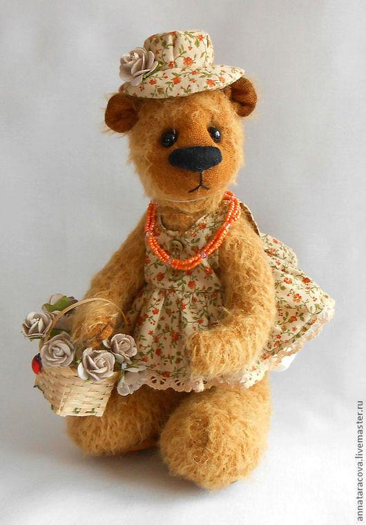 Мишки Тедди ручной работы. Ярмарка Мастеров - ручная работа. Купить Фанечка.. Handmade. Мишка, мохер, бумажные цветы