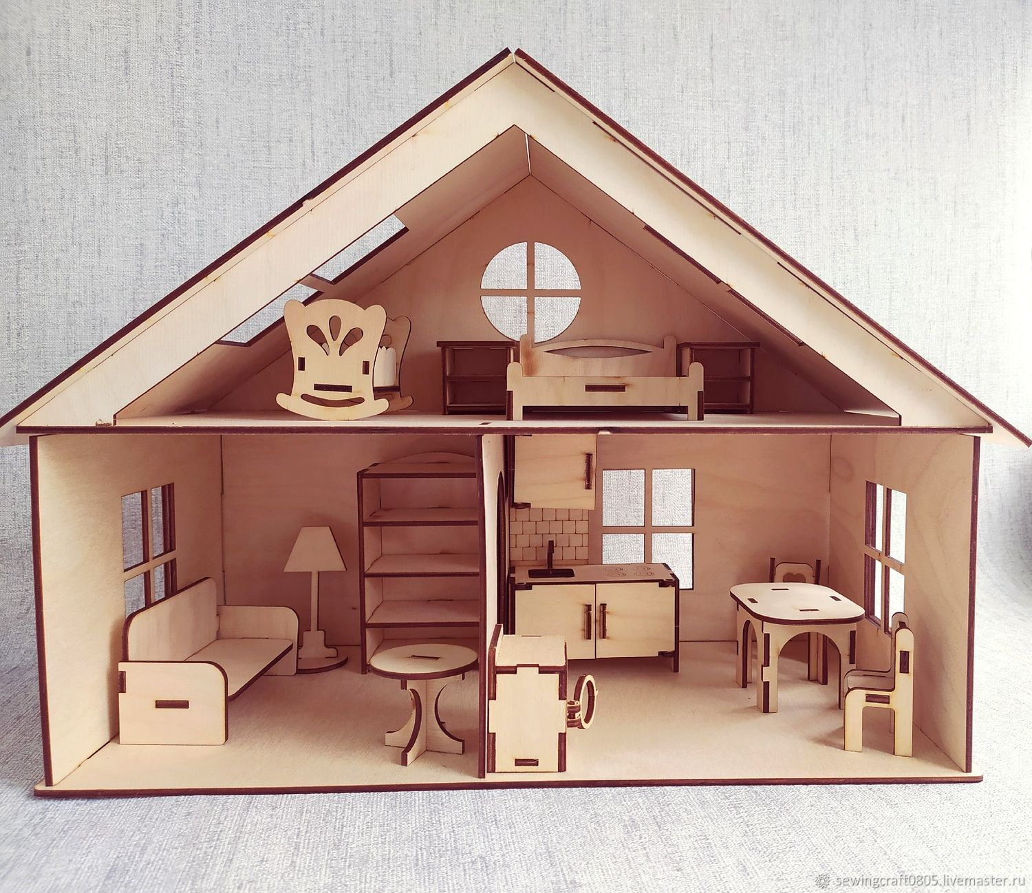 Dollhouse. Height 30 cm. Unfurnished, Doll houses, St. Petersburg,  Фото №1