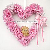 Подарки к праздникам ручной работы. Ярмарка Мастеров - ручная работа Розовое сердце Влюбленные. Handmade.