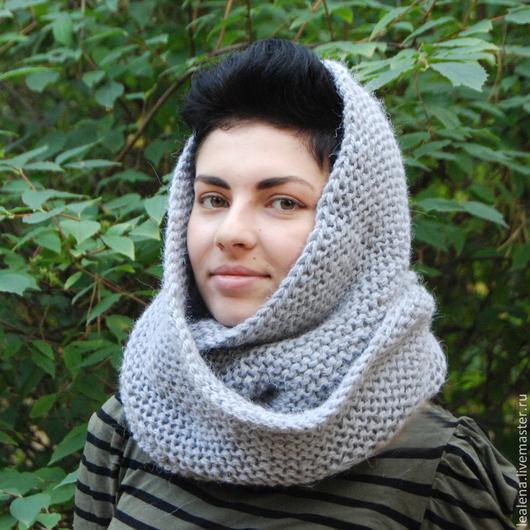 """Шали, палантины ручной работы. Ярмарка Мастеров - ручная работа. Купить Очень теплый снуд-шарф """"Мышонок"""" (шерсть). Handmade."""