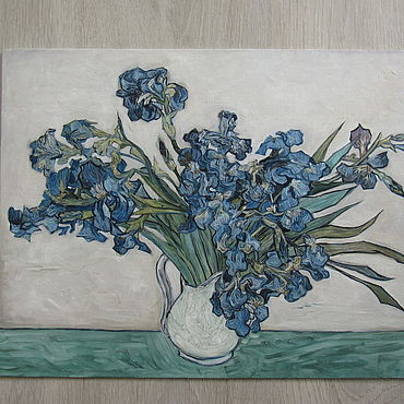 Картины и панно ручной работы. Ярмарка Мастеров - ручная работа Картины: Ирисы Ван Гога. Handmade.