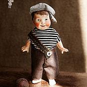 Куклы и пупсы ручной работы. Ярмарка Мастеров - ручная работа Куколка из антикварных деталей. Босоногое детство. Славик.. Handmade.