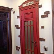 Дизайн и реклама ручной работы. Ярмарка Мастеров - ручная работа роспись двери Телефонная будка. Handmade.