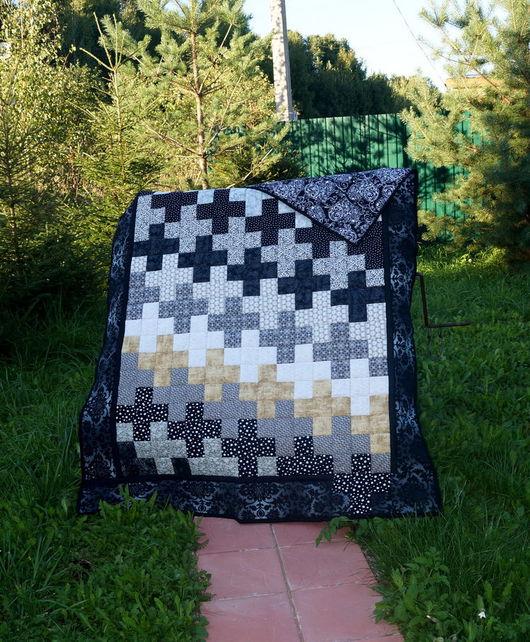 """Текстиль, ковры ручной работы. Ярмарка Мастеров - ручная работа. Купить Лоскутное одеяло """"Кресты"""". Handmade. Одеяло пэчворк, пэчворк"""