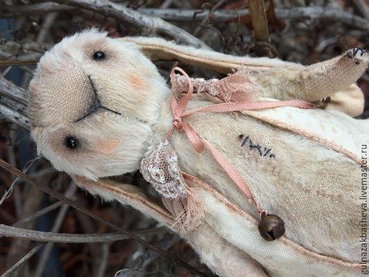 Мишки Тедди ручной работы. Ярмарка Мастеров - ручная работа. Купить Залюбленный зайка. Handmade. Зая, подарок, love, хлопок