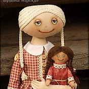 Куклы и игрушки ручной работы. Ярмарка Мастеров - ручная работа Девочка с куклой. Винтажный стиль.. Handmade.
