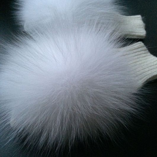 Варежки, митенки, перчатки ручной работы. Ярмарка Мастеров - ручная работа. Купить Митенки для Снежной королевы. Handmade. Белый