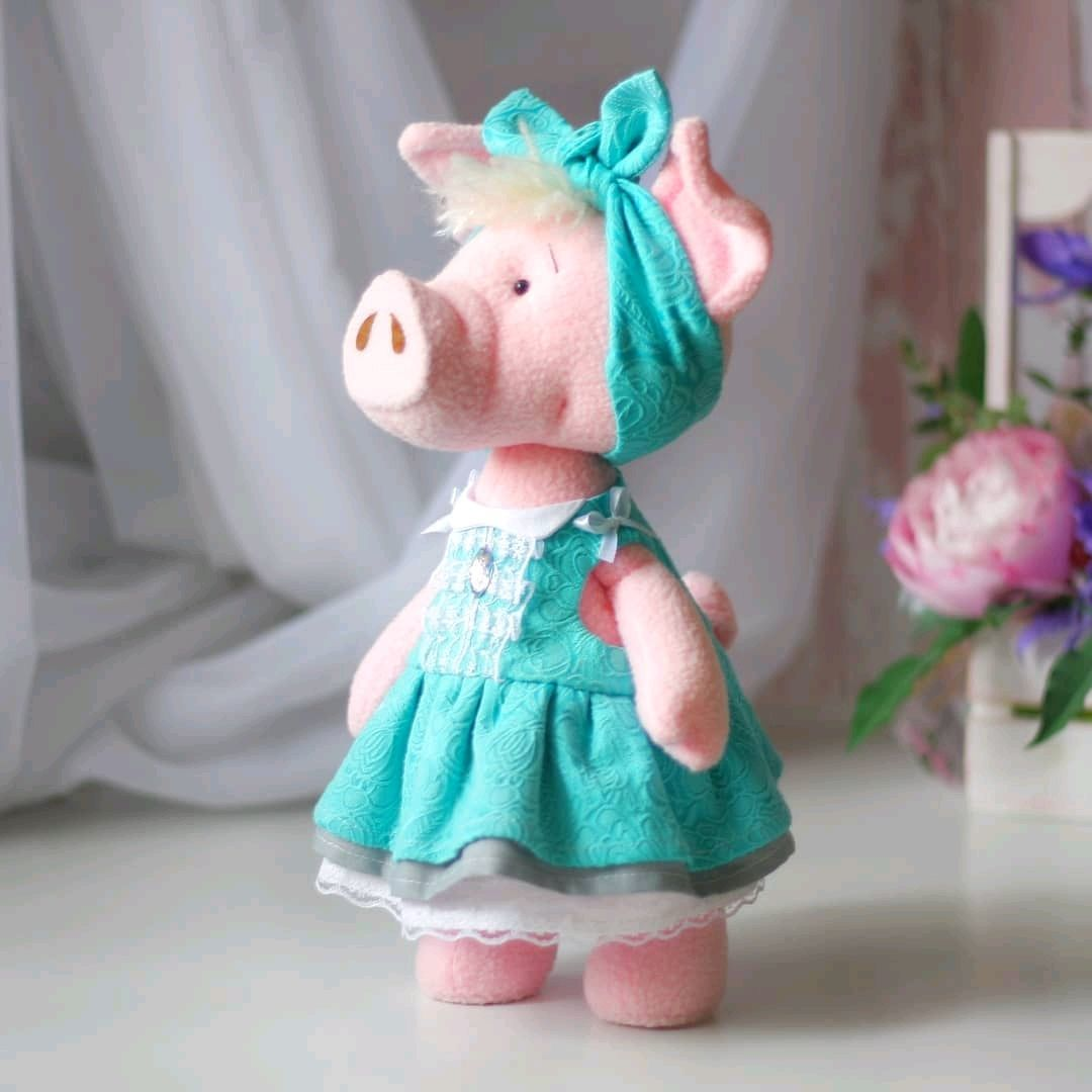 Свинка текстильная в съемной одежде, Игрушки, Москва, Фото №1