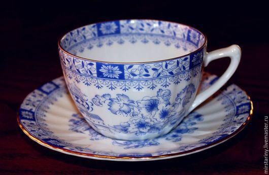 Винтажная посуда. Ярмарка Мастеров - ручная работа. Купить Редкая чайная пара, China Blau, Seltmann Weiden Германия 1949-54. Handmade.
