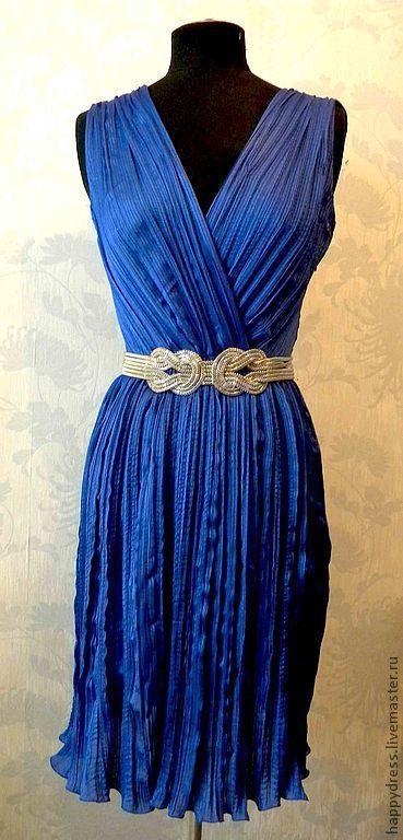 Платье из ткань плиссе