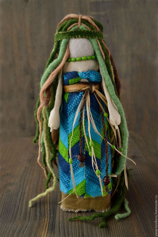 """Народные куклы ручной работы. Ярмарка Мастеров - ручная работа. Купить Тряпичная кукла """"Русалка"""". Handmade. Тряпичная кукла, персонаж"""