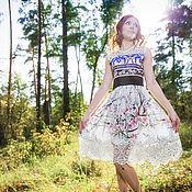 """Одежда ручной работы. Ярмарка Мастеров - ручная работа Платье """"Яблони в цвету"""". Handmade."""