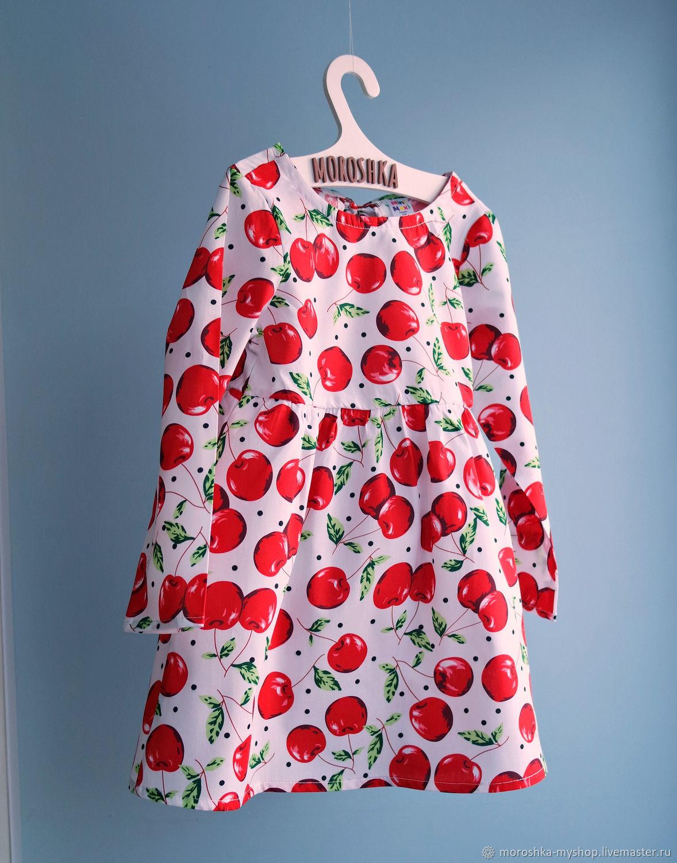 Платье для девочки Черешня, белое