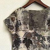 Одежда ручной работы. Ярмарка Мастеров - ручная работа Платье стрейч с экопринтом. Handmade.