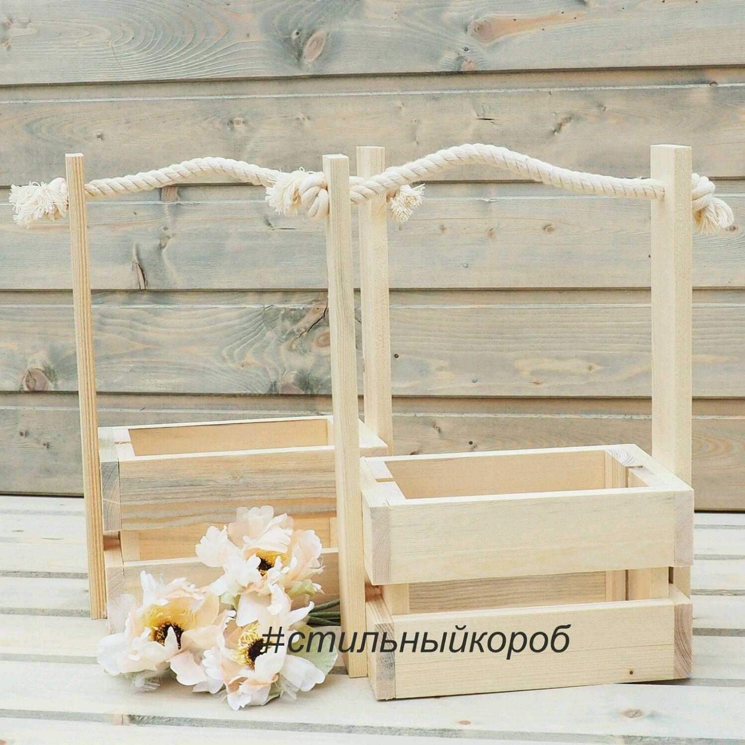 Контейнер для цветов из дерева