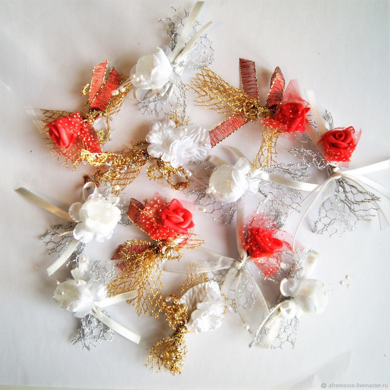 Прищепки  `Свадебные розочки` декоративные