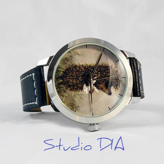Оригинальные Дизайнерские Часы Ежик В Тумане С Мешочком. Студия Дизайнерских Часов DIA.