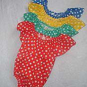 Работы для детей, ручной работы. Ярмарка Мастеров - ручная работа Нарядный песочник-боди для малышки. Handmade.