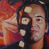 Картины и панно ручной работы. Ярмарка Мастеров - ручная работа Квентин Тарантино. Портрет маслом на холсте. Handmade.