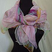 Аксессуары ручной работы. Ярмарка Мастеров - ручная работа валяный  шарф  Ирисы. Handmade.