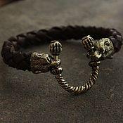 Украшения handmade. Livemaster - original item Men leather bracelet - Bear. Handmade.