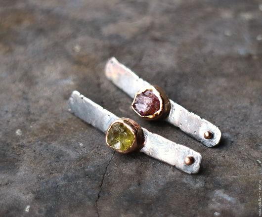 Серьги ручной работы. Ярмарка Мастеров - ручная работа. Купить LA PLAYA серьги (гранат, шпинель, серебро, золото). Handmade.