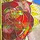 Элементы интерьера ручной работы. Ярмарка Мастеров - ручная работа. Купить Розы-витраж в перегородку. Handmade. Ярко-красный