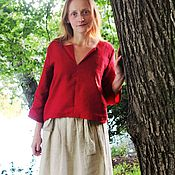 Одежда handmade. Livemaster - original item Blouse linen