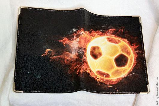 """Обложки ручной работы. Ярмарка Мастеров - ручная работа. Купить обложка """"Огненный мяч"""". Handmade. Натуральная кожа, обложки"""