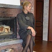 Одежда ручной работы. Ярмарка Мастеров - ручная работа Платье-свитер маренго с аксессуарами. Handmade.