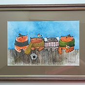 Картины и панно ручной работы. Ярмарка Мастеров - ручная работа Котики -обормотики. Handmade.
