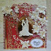 Открытки ручной работы. Ярмарка Мастеров - ручная работа Открытка на свадьбу, подарок молодоженам ручной работы, wedding. Handmade.