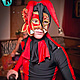 Карнавальные костюмы ручной работы. Ярмарка Мастеров - ручная работа. Купить арлекин и компания. Handmade. Ярко-красный, шоу