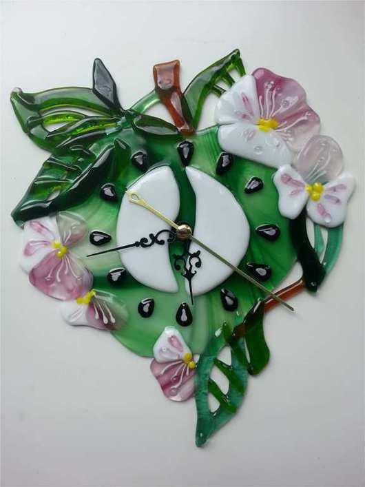 """Часы для дома ручной работы. Ярмарка Мастеров - ручная работа. Купить Часы """" Яблонька"""". Handmade. Разноцветный, часы на кухню"""