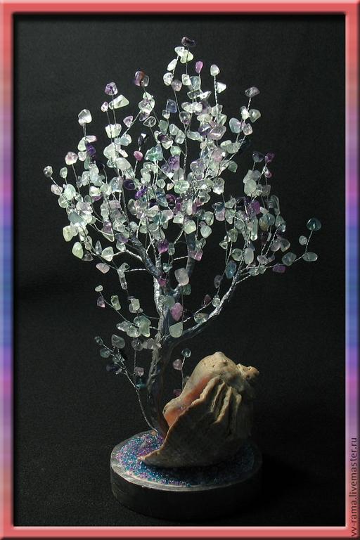Деревья ручной работы. Ярмарка Мастеров - ручная работа. Купить Дерево из флюорита. Handmade. Фиолетовый цвет, дерево из камней, дерево