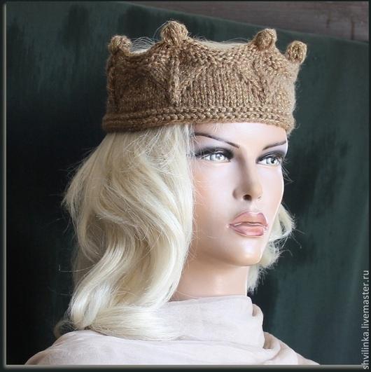 """Повязки ручной работы. Ярмарка Мастеров - ручная работа. Купить """"Моя королева"""" повязка на голову. Handmade. Хаки, корона"""