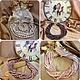 Ожерелье на шею из натурального цвета колье бусы из жемчуга дизайнера украшений Молодых Светланы купить в интернете