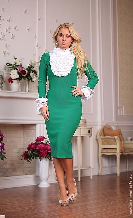 """Платья ручной работы. Ярмарка Мастеров - ручная работа. Купить Платье """"Версаль Winter"""". Handmade. Зеленый, платье с кружевом"""