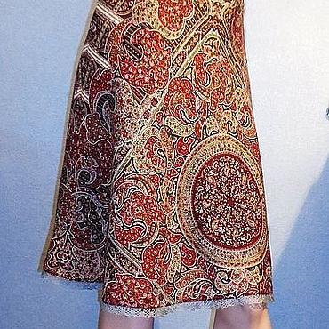 Одежда ручной работы. Ярмарка Мастеров - ручная работа Юбка из павловопосадских платков. Handmade.