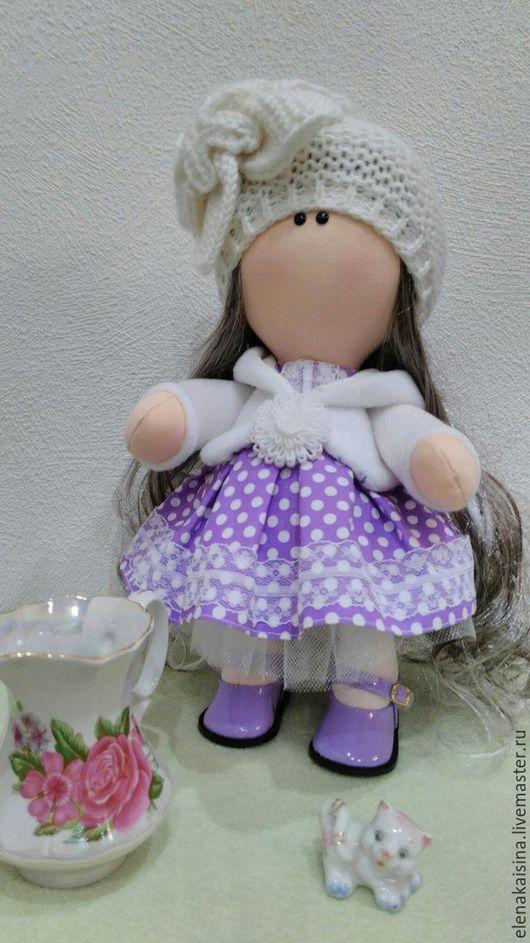 Коллекционные куклы ручной работы. Ярмарка Мастеров - ручная работа. Купить кукла Виолетта. Handmade. Сиреневый, текстильная кукла, подарок
