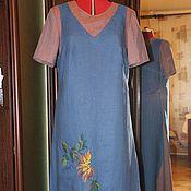 """Одежда ручной работы. Ярмарка Мастеров - ручная работа Платье с ручной вышивкой """"Хризантемы"""". Handmade."""