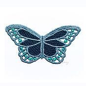 Материалы для творчества handmade. Livemaster - original item Applique embroidery Butterfly large white openwork lace FSL free. Handmade.