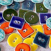 Материалы для творчества handmade. Livemaster - original item Ceramic buttons