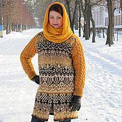 Одежда ручной работы. Ярмарка Мастеров - ручная работа пальто вязанно-валянное. Handmade.