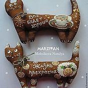 Куклы и игрушки ручной работы. Ярмарка Мастеров - ручная работа Кофейные кошечки (магнит). Handmade.