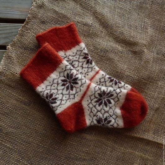 Носки, Чулки ручной работы. Ярмарка Мастеров - ручная работа. Купить Носки позитивные  с рисунком норвежские звезды. Handmade. Комбинированный