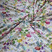 """Ткани ручной работы. Ярмарка Мастеров - ручная работа Хлопок с эластаном """"Лесная поляна"""". Handmade."""