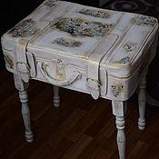 Для дома и интерьера ручной работы. Ярмарка Мастеров - ручная работа Винтажный столик из чемодана. Handmade.