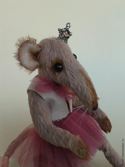 Мишки Тедди ручной работы. Ярмарка Мастеров - ручная работа. Купить Крыска Лариска. Handmade. Бледно-розовый, крыса